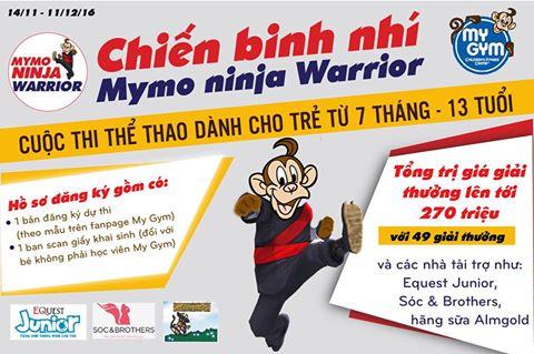 [Hệ thống My Gym Vietnam] CUỘC THI NINJA MYMO WARRIOR MÙA 2 BẮT ĐẦU KHỞI TRANH 14/11 – 11/12)