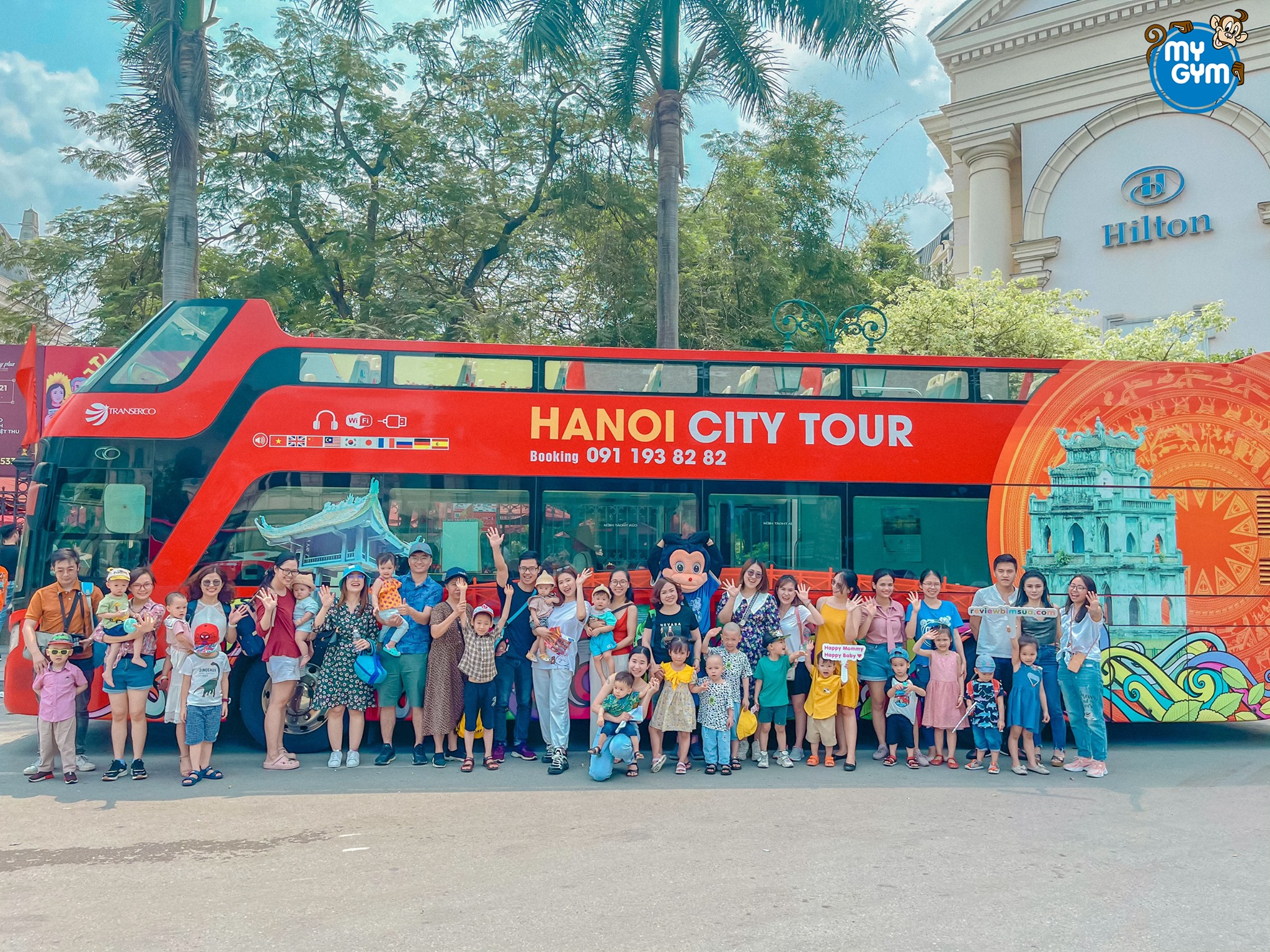 Cùng My Gym vi vu Hà Nội bằng xe bus 2 tầng