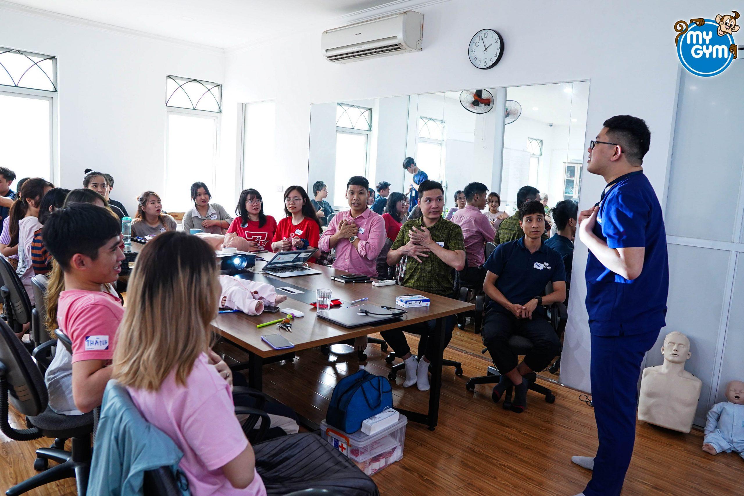My Gym Việt Nam hoàn thành khóa huấn luyện sơ cấp cứu.